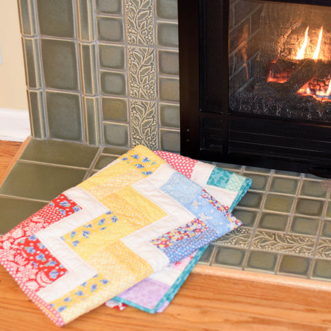 Rail Fence Quilt | Jelly Roll Fabric