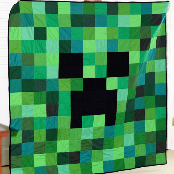 Finished Minecraft Quilt