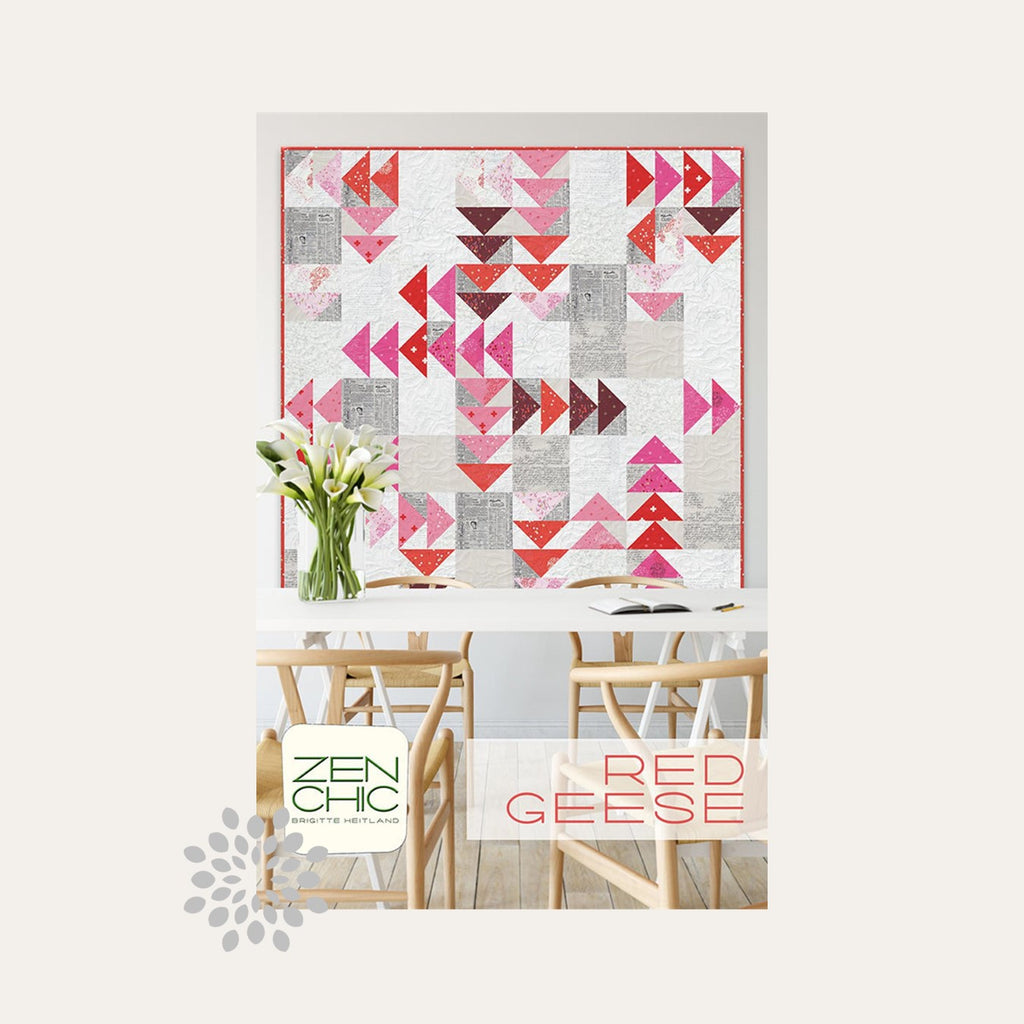 Red Geese Quilt Pattern | Zen Chic