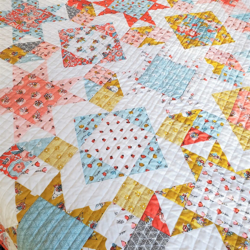 Square Burst Quilt Pattern | Running Stitch Quilts