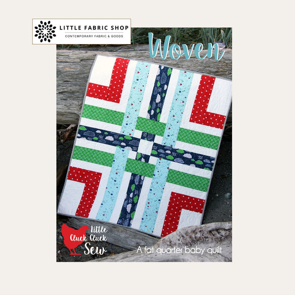 Woven Baby Quilt Pattern | Cluck Cluck Sew