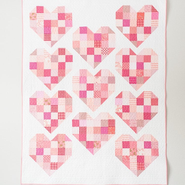 Scrappy Hearts Quilt Pattern | Quilty Love