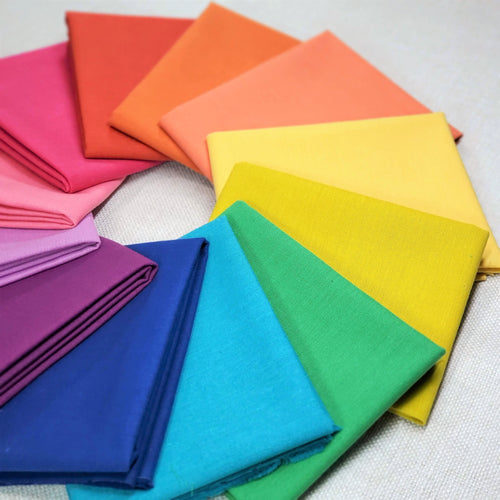 Rainbow Cirrus Solid | Shop Curated Fat Quarter Bundle | Cloud 9 - 12 Fabrics
