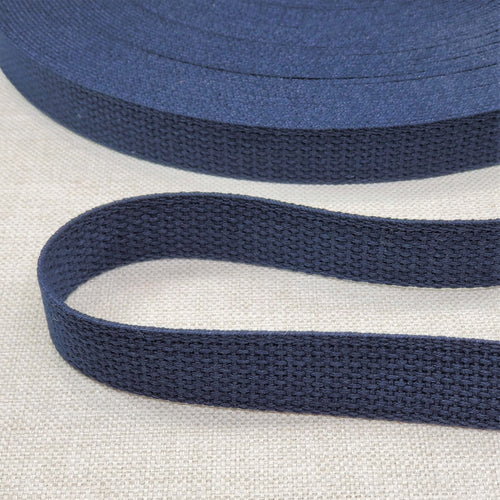 "1"" wide NAVY Cotton Belting"
