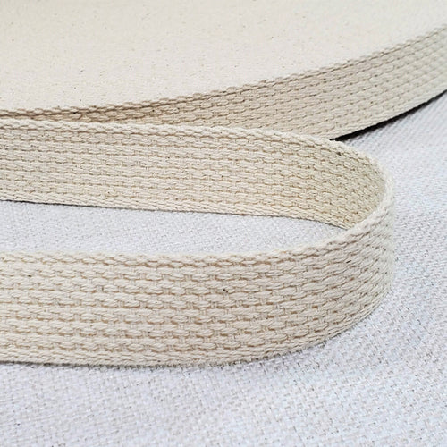 "1"" wide NATURAL Cotton Belting"