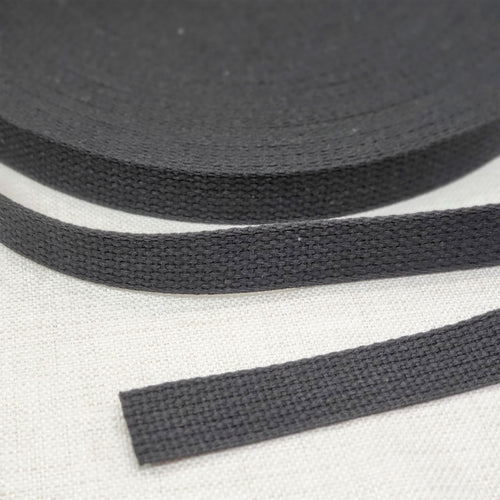 "1"" wide BLACK Cotton Belting"