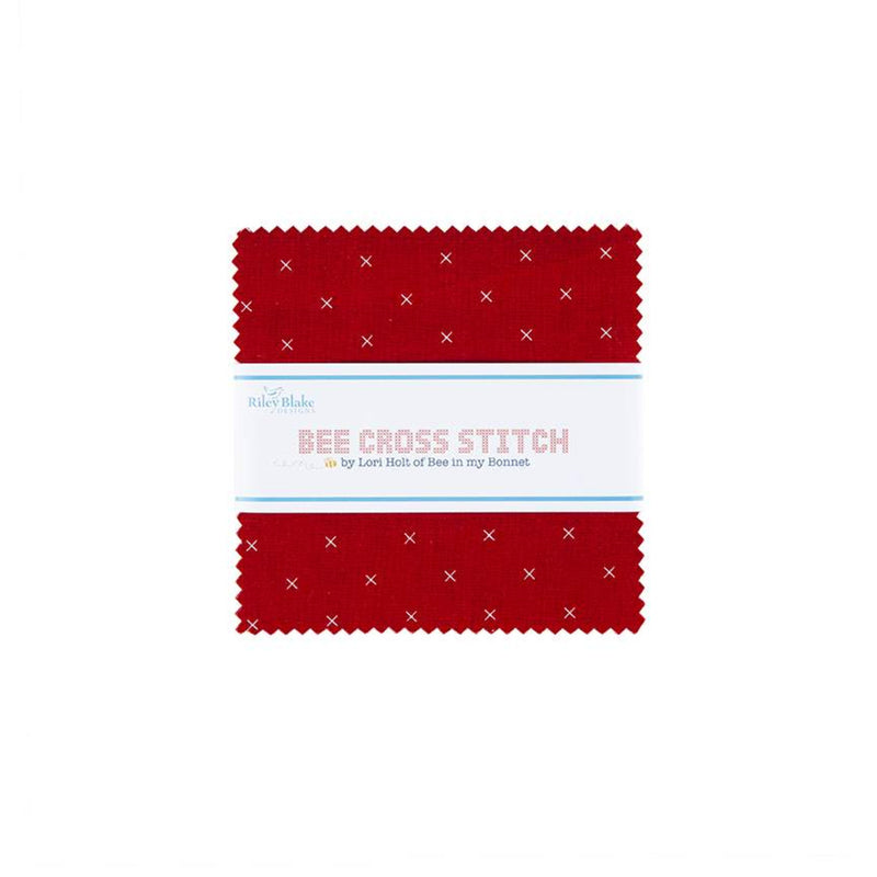 "Bee Cross Stitch - 5"" Charm Pack 