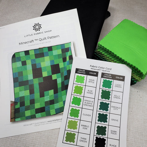 Minecraft Creeper Quilt Kit | Little Fabric Shop