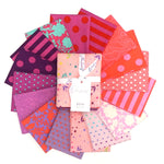New Tula True Colors - Flamingo | Tula Pink | Fat Quarter Bundle | FreesSpirit Fabrics