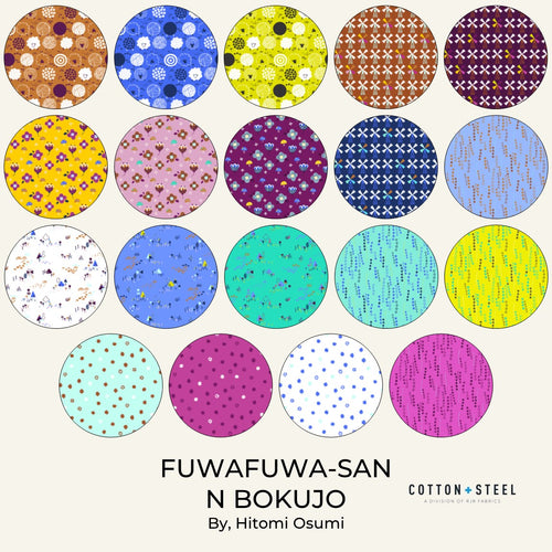 "Fuwafuwa-San No Bokujo - 5"" Charm Pack 