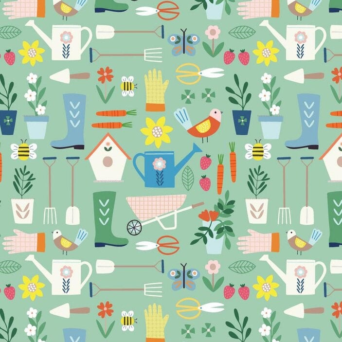 Hobbies Fabric - Gardening | Dashwood Studio