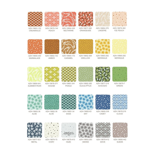 "Paintbox | Elizabeth Hartman | Robert Kaufman | 5"" Charm Square Bundle"