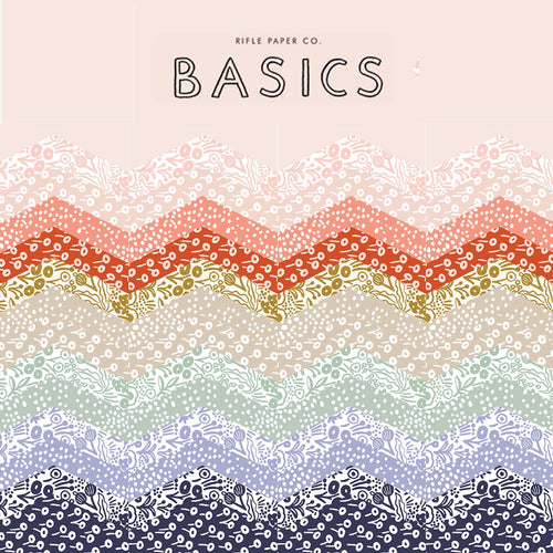 Rifle Paper Co. Basics | Cotton+Steel Fabric | Fat Quarter Bundle