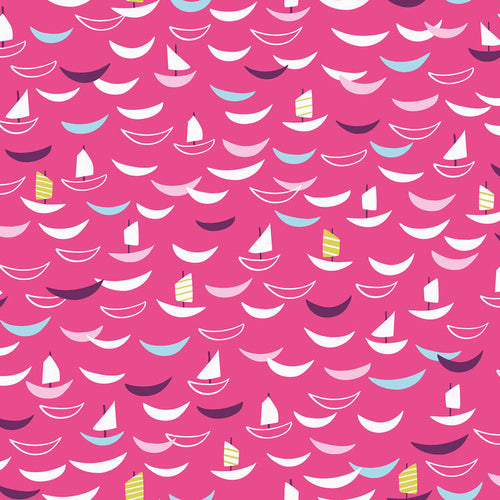 Silk Roads | Dashwood Studio | Trade Ships - Bright Pink