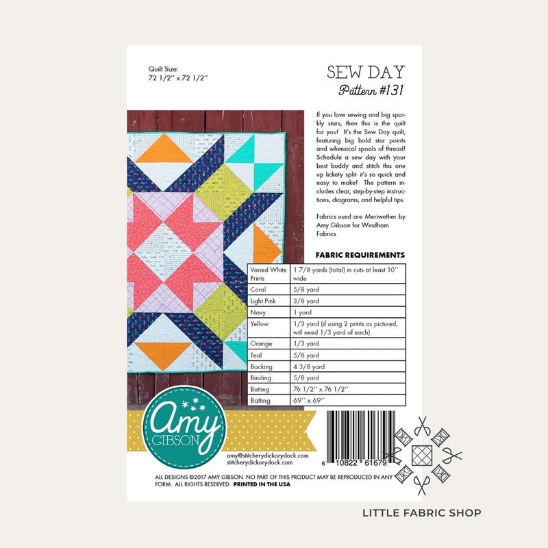 Sew Day Quilt | Quilt Pattern | Amy Gibson