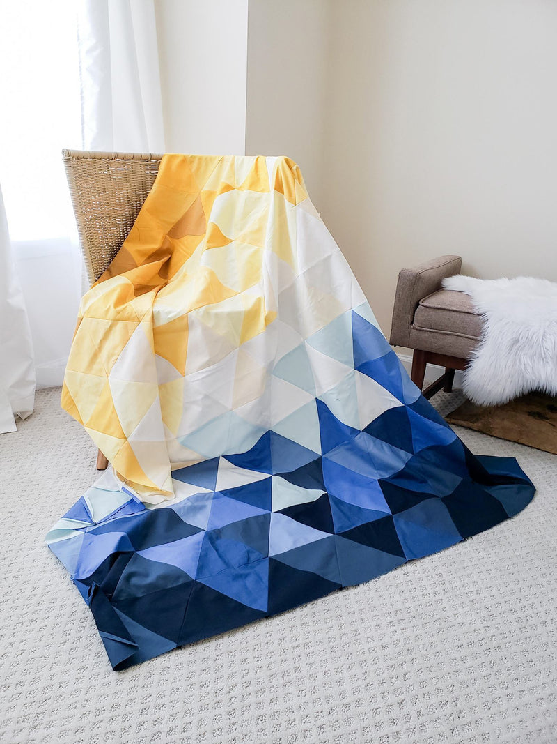 Lo & Behold Stitchery | Quilt Pattern | Triangle Fade