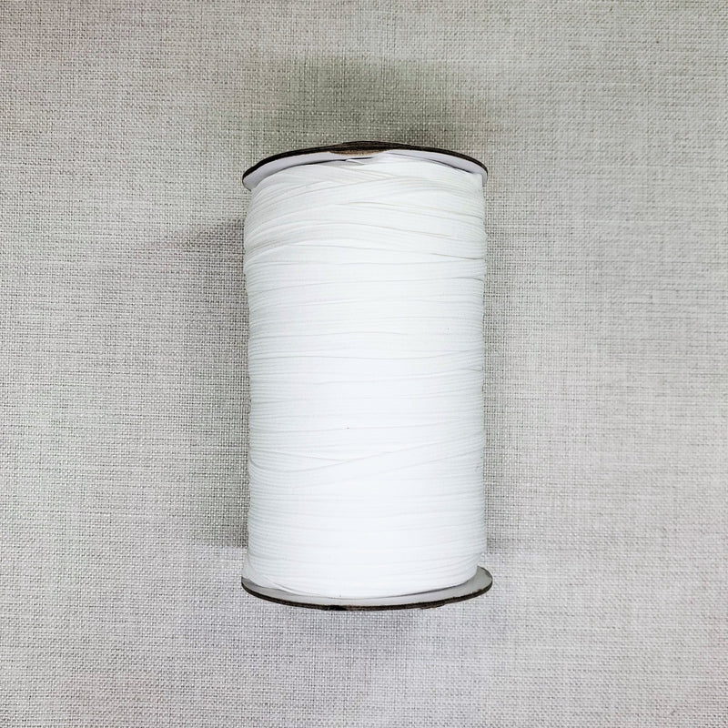 White Spandex 1/4 inch Elastic | Face Mask Elastic Supplies | Sold by the Yard