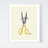 Scissors Art Print | by, Sarah Watts of Crafted Moon