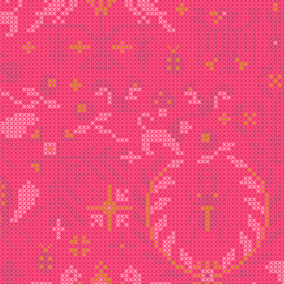 Sun Print 2020 | Alison Glass Fabric | Menagerie - Salmon