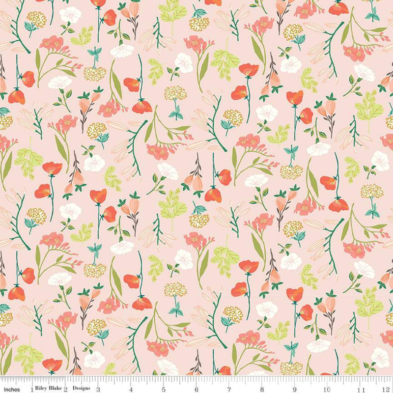 Midsummer Meadow - Main Blush | Riley Blake Designs