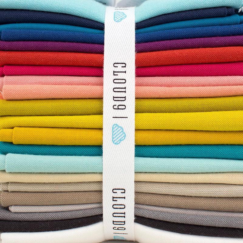 Cirrus Solid - Butter | Cloud 9 Fabrics | Organic Yarn Dyed Crossweave Fabric