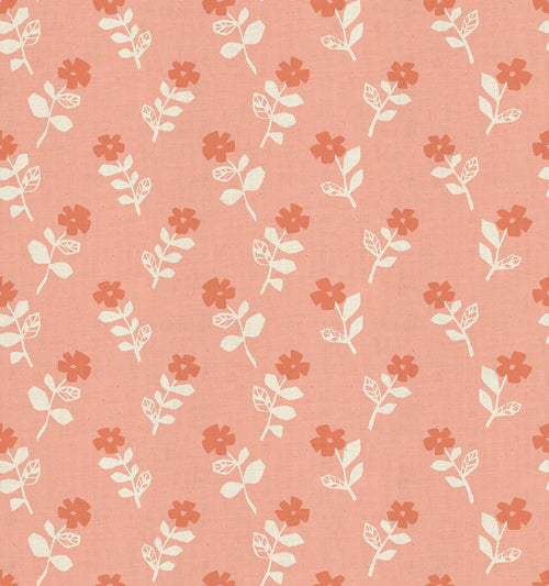Mori No Tomadachi - Odoru Hana - Coral | Cotton+Steel Fabric