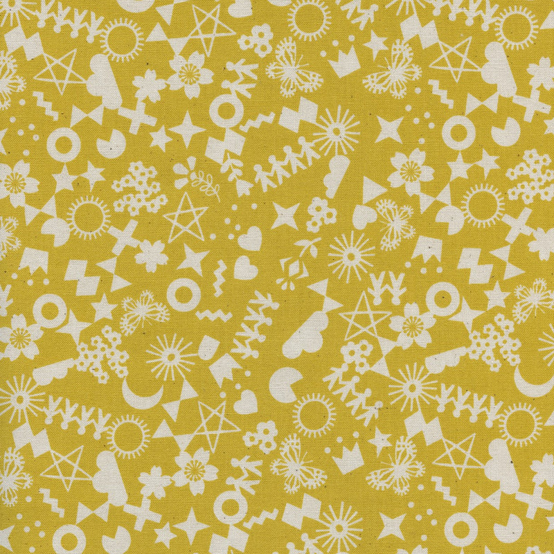 Paper Cuts - Cut It Out - Maize | Cotton+Steel Fabric