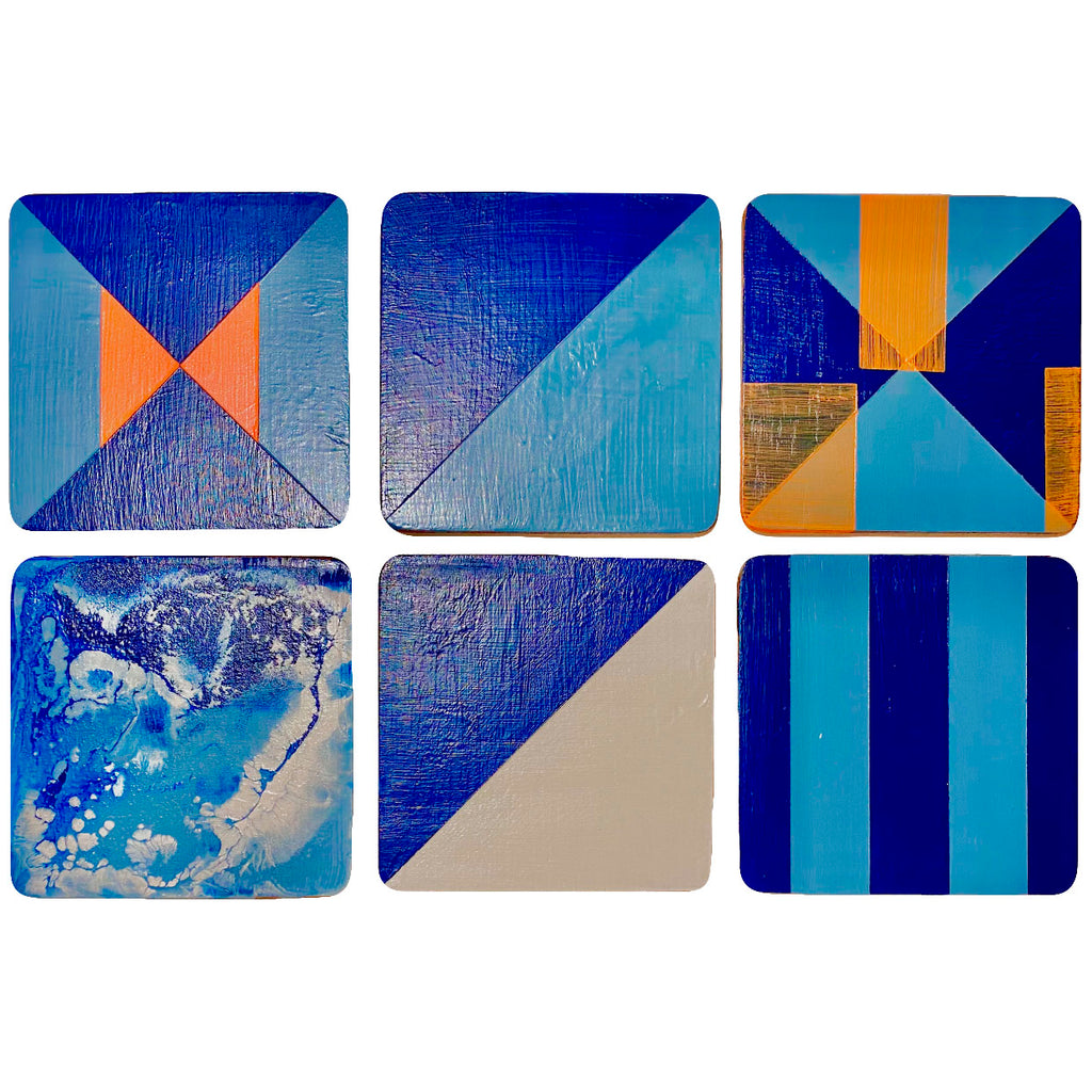 Graphic mixed set coasters