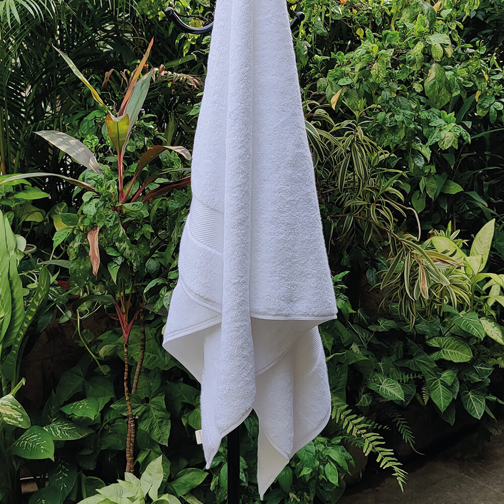 Kheda Luxury Bath Towel WHITE