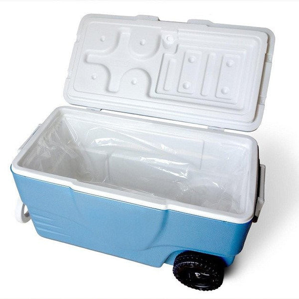sanitary liner adheres to the inside rim of your cooler