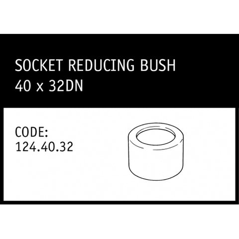 40x32mm DWV Reducing Bush
