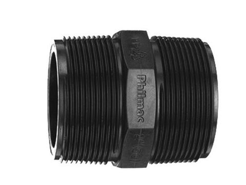 Threaded Hex Nipple 50mm