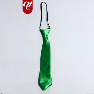 Boys Elastic Tie 9.5 Inches Parrot Green