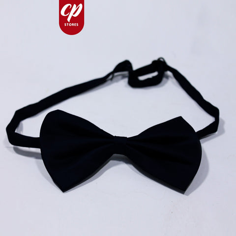 Clip On Bow for Boys  Mid Night Black