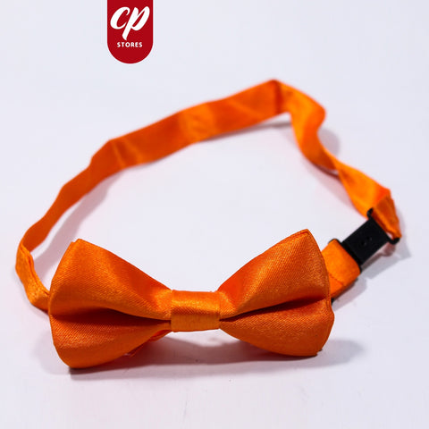 Clip On Bow for Boys Hex Orange
