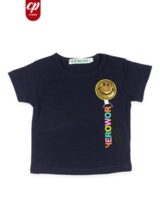 Cut Price Kids T-Shirt Smiley Batch Dark Blue