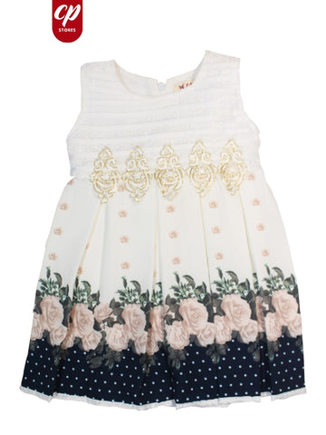 Cut Price Elegant Frock for Girls Gold Front