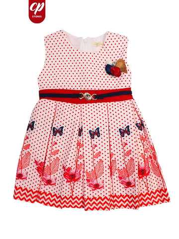 Cut Price Elegant Frock for Girls Red Hope