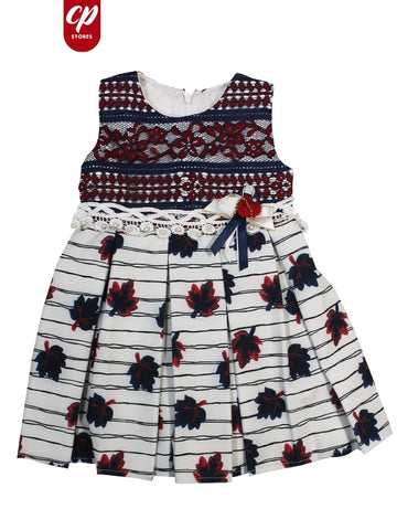 Cut Price Elegant Frock for Girls Blue Desire