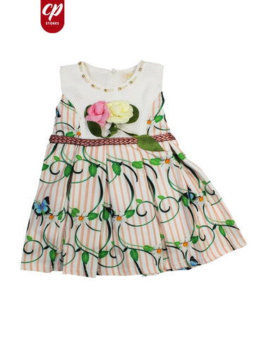 Cut Price Elegant Frock for Girls Green Delight