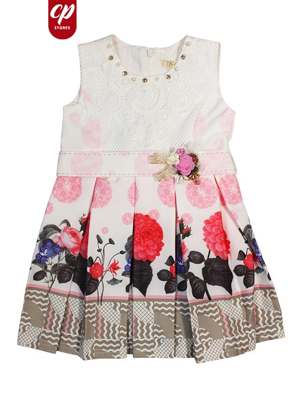 Cut Price Elegant Frock for Girls Tulip Red