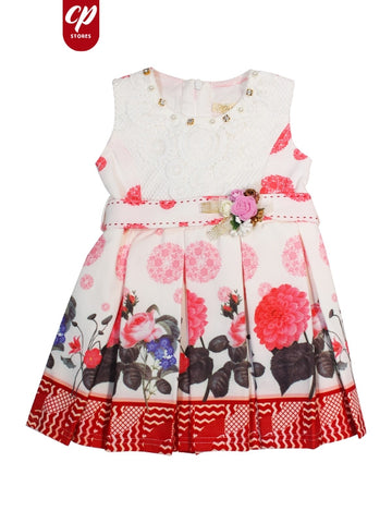 Cut Price Elegant Frock for Girls Spring Red