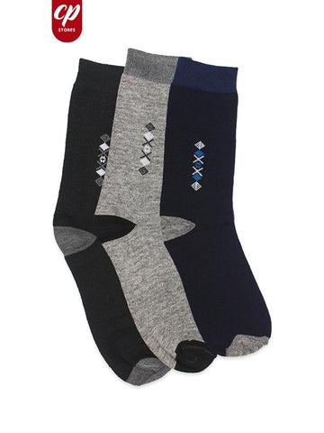 Classic Socks For Men Multi-color Pack of 3