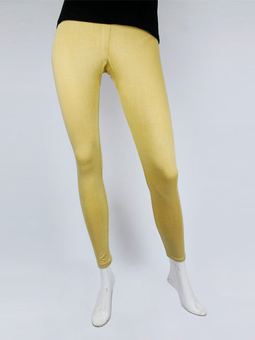 Tights For Women Plain Buff Yellow