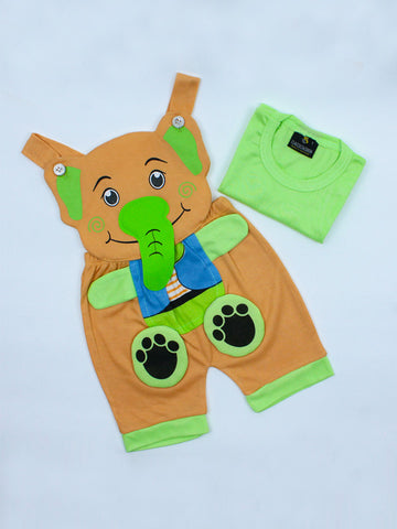 Elephant Romper for Newborn 1Mth - 8Mth fawn