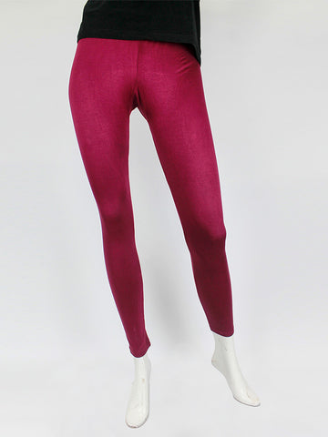 Tights For Women Plain Maroon