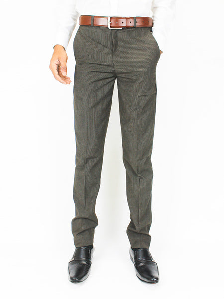 Dress Pant Trouser Formal for Men Slate Brown Stripe