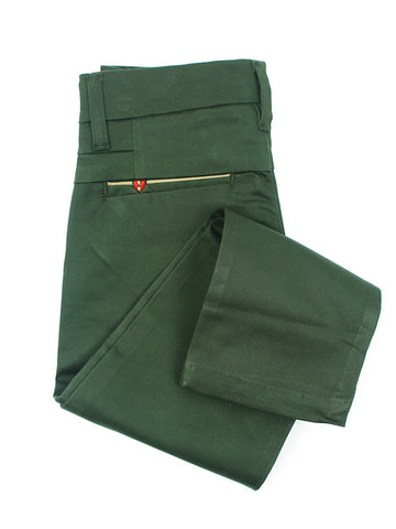 5 Yrs - 16 Yrs Cotton Chino For Boys Dark Green