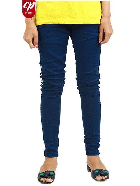 Cut Price Ladies Girls Stretchable Jeans Navy Blue