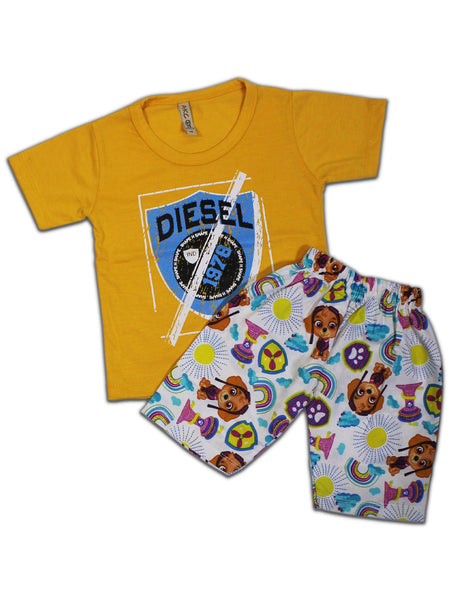 AKC Kids Suit 1.5Yr-3.5Yr Printed Batch 1978 Yellow